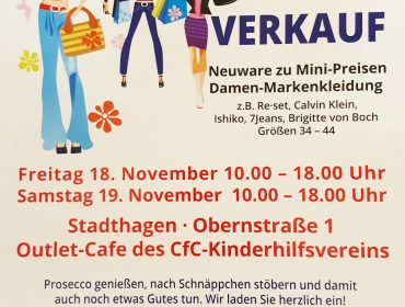 CHARITY OUTLET IN STADTHAGEN